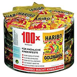 Haribo Fruchtgummi Goldbären 100 Stück à 10 g 301210