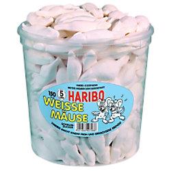 Haribo Fruchtgummi Weiße Mäuse 150 Stück à 7 g 10003765