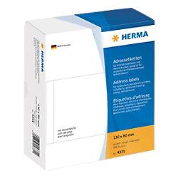 HERMA Adressetiketten 4331 Weiß 130 x 80 mm 500 Blatt à Etiketten