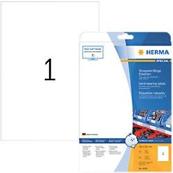 HERMA Wetterfeste Etiketten 4698 Rechteckig DIN A4 210 x 297 mm 25 Blatt à 1 Etikett