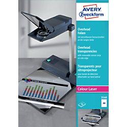 Avery Zweckform Laser + Kopier-Folie 3560, A4, klar, Inh. 50 Stück