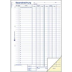 Avery Zweckform Kassenabrechnung / 1757, SD, DINA4 hoch, Inh.2x40Blatt