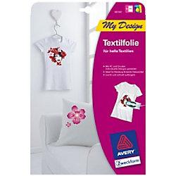 Avery Textilfolie MD1001 Weiß DIN A4 5 Stück