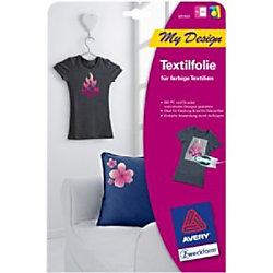 Avery Textilfolie T-Shirt Weiß DIN A4 4 Blatt à 1 Stück MD1003