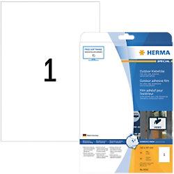 HERMA Wetterfeste Etiketten 9500 Rechteckig DIN A4 210 x 297 mm 10 Blatt à 1 Etikett