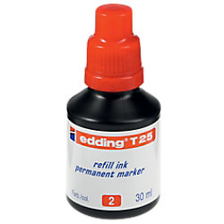 edding Nachfülltinte T 25 Rot 30 ml 4-T25002