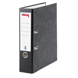 Viking Ordner 80 mm Glatt Karton 2 Ringe DIN A4 Schwarz 3870405