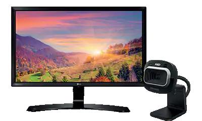 Monitors & Webcams