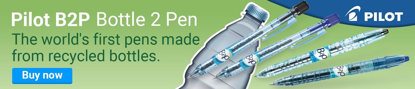 Pilot B2P - Bottle 2 Pen - The world's first pens made from recycled bottles.
