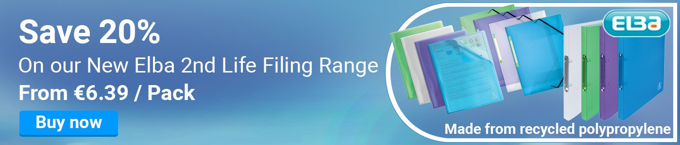 Save 20% On our New Elba 2nd Life Filing Range