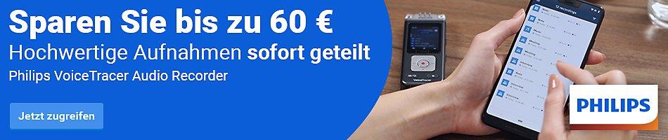 Sparen Sie bis zu 60€ | Philips VoiceTracer Audio Recorder