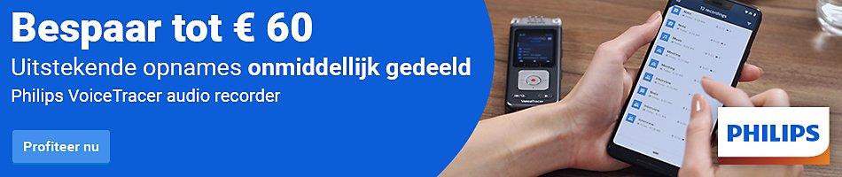 Bespaar tot €60 | Philips VoiceTracer Audio Recorder