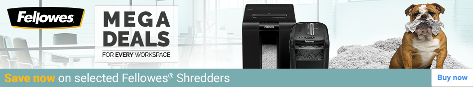 Save now on selected Fellowes Shredders