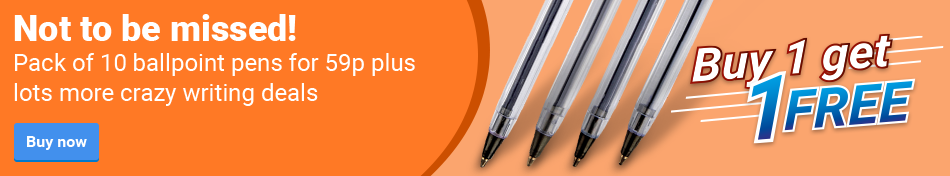 Not to be missed! Pack of 10 ballpoint pens for 59p