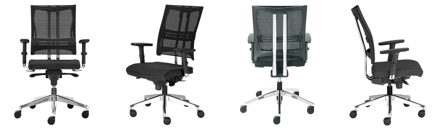 Nowy Styl Ergonomische stoel Net Motion Zwart