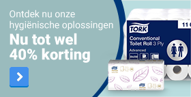 Ontdek nu onze hygiënische oplossingen - Nu tot wel 40% korting