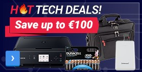 Save up to € 100	HOT TECH DEALS	Best prices just a click away