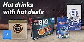 Hot drinks with hot deals. Order all your coffee break essentials here