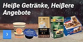 Heiβe Getränke, Heiβere Angebote. Bestellen Sie bei uns alles für Ihre Kaffeepause