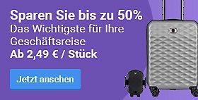 Sparen Sie bis zu 50% Das Wichtigste für Ihre Geschäftsreise. Ab 2,49 € / Stück