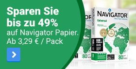 Sparen Sie bis zu 49% auf Navigator Papier