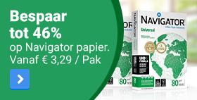 Bespaar tot 46% op Navigator papier