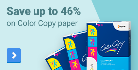 Save up to 46% on Color Copy paper