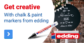 Get creative with chalk & paint markers from edding