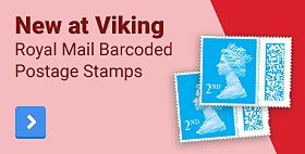 New at Viking - Royal Mail Barcoded Postage Stamps