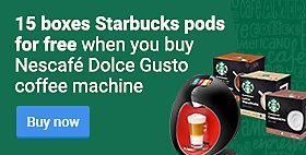 15 boxes Dolce Gusto Starbucks pods for free when you buy Nescafé Dolce Gusto Majesto coffee machine