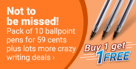 Not to be missed! Pack of 10 ballpoint pens for 59 cents