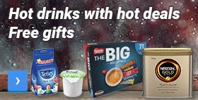 Free gifts	Hot drinks with hot deals