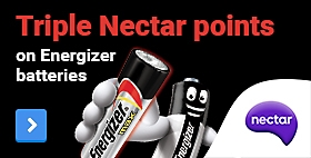 Triple Nectar Points on Energizer batteries!