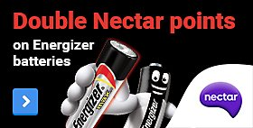 Double Nectar Points on Energizer batteries!