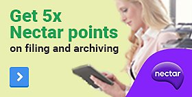 Get 5x Nectar points on filing & archiving products