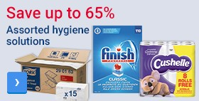 Save up to 65% Assorted hygiene solutions
