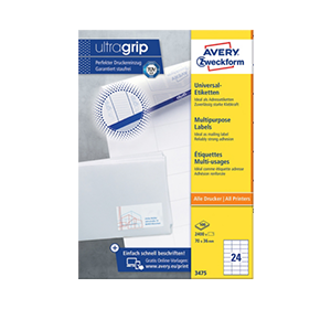 2 paquets d'étiquettes Ultragrip