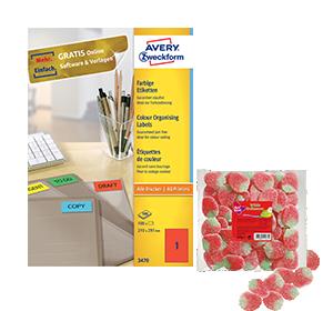 2 pakken gekleurde etiketten