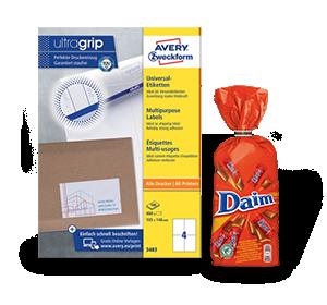 2 pakken multifunctionele-, Adres-, en verzendetiketten