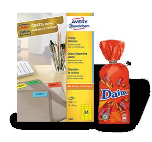 2 Pack farbige Etiketten