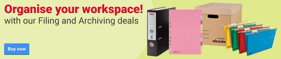 Organise your workspace! With our Filing and Archiving deals