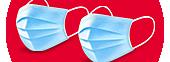 Medizinische Mundschutzmasken
