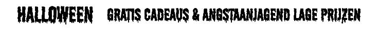 Halloween gratis cadeaus & angstaanjagend lage prijzen
